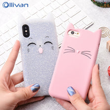 Squishy Glitter Silicon TPU Cover For iPhone 6 6s 7 8 Plus