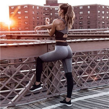 Tracksuit For Women Yoga Set Leggings+Tops Set