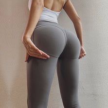 High Waist Nylon Scrunch Butt Leggings