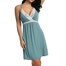 Sexy V Neck Sling Lace nightdress Sleepwear