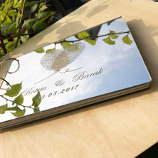 Personalised fingerprint Wedding Mirror Book