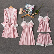 Silk Pajamas for Women Sleepwear Suit