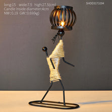 Creative Wrought Iron Candle Holder