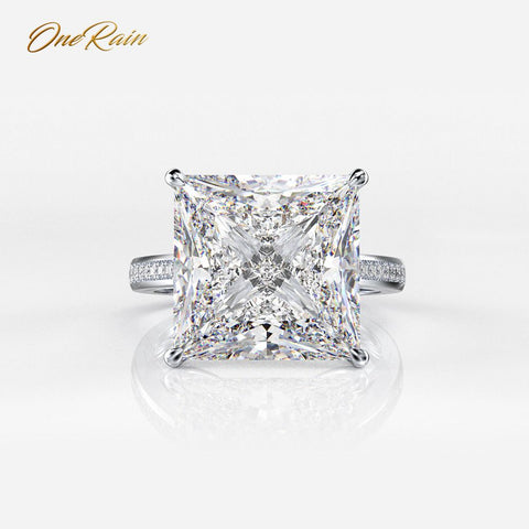 OneRain 100% 925 Sterling Silver Square Moissanite Diamonds Gemstone