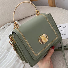 Solid color Leather Mini Crossbody Bag