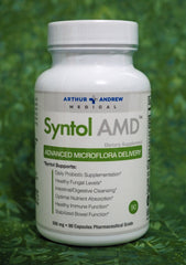 Syntol AMD is a probiotic, prebiotic and enzymes intestinal cleanse. It has been formulated to create an unfriendly environment for yeast. It contains the spore-forming bacteria Bacillus subtilis.