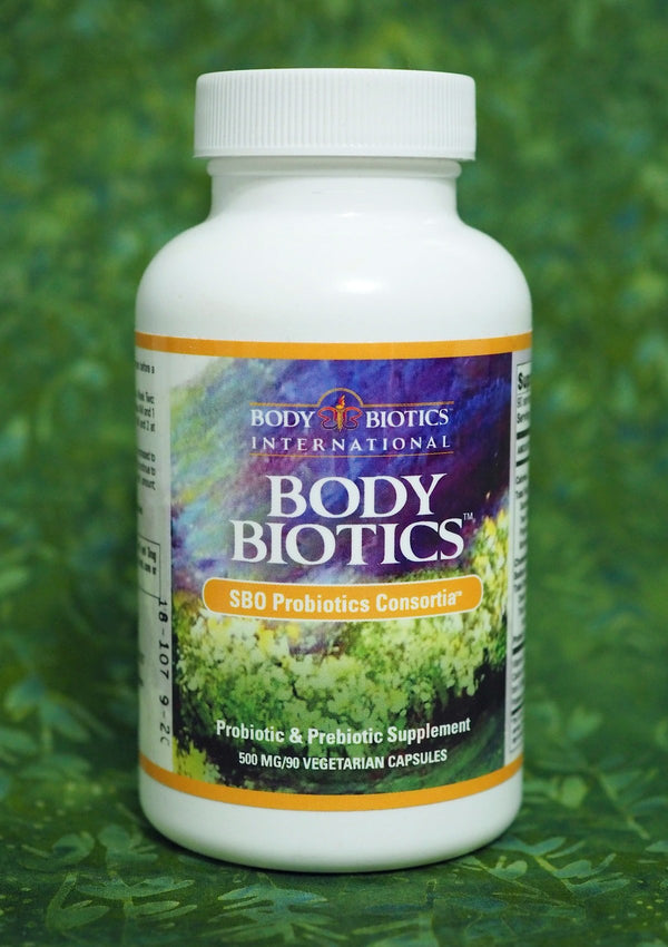 Body Biotics Soil-based Probiotic Consortia in a 90 capsule bottle