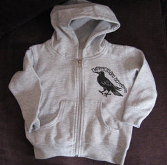 "Toddler Hoodie Design  ""Nevermore....Poe's Crow """