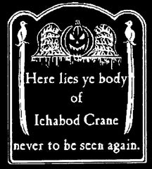 Ichabod Crane (white ink)   #GH102 WI