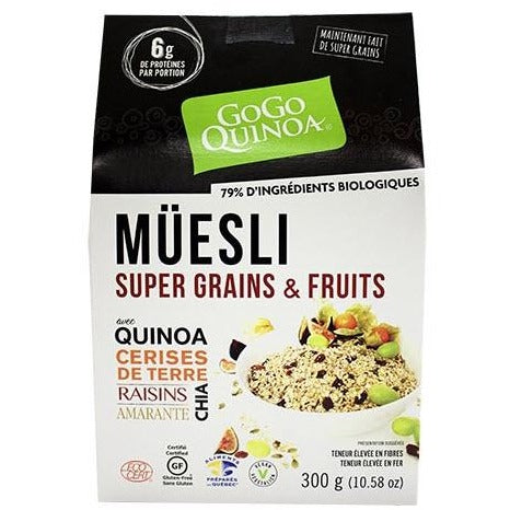 Muësli super grains et fruits certifié sans gluten