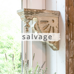 Chippy white salvaged corbel
