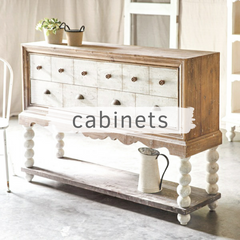 Chippy white cabinet buffet