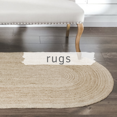 Seagrass rug in farmhouse room