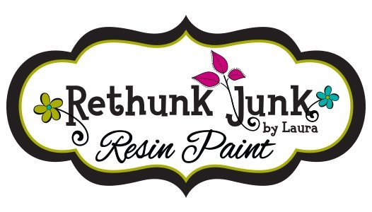 Rethunk Junk by Laura Resin Paint Logo