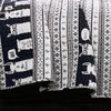 Llama Stripe Quilt Navy 4Pc Set Twin