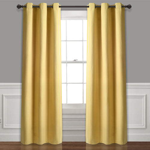 Absolute Blackout Window Curtain Panels Yellow 76X84 Set  38x84