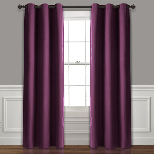 Absolute Blackout Window Curtain Panels Plum 76X84 Set  38X84