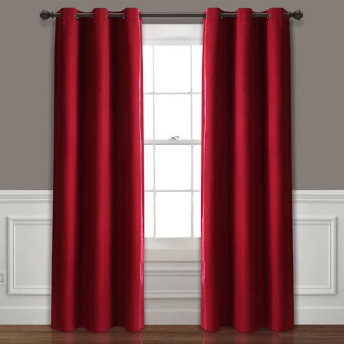 Absolute Blackout Window Curtain Panels Burgundy 76X84 Set  38x84