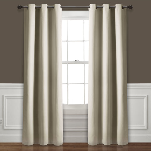 Absolute Blackout Window Curtain Panels Wheat 76X95 Set   38x95