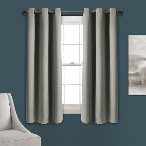 Absolute Blackout Window Curtain Panels Dark Gray 76X63 Set  38x63