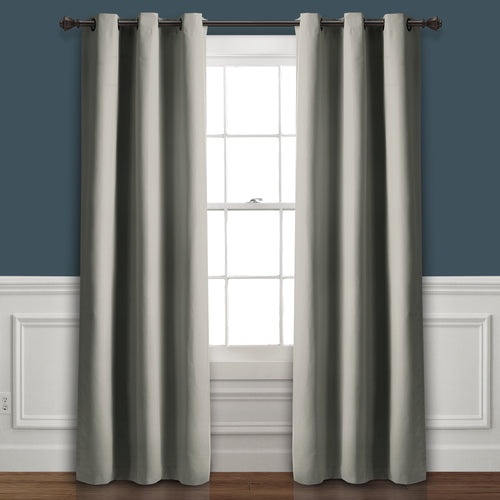 Absolute Blackout Window Curtain Panels Dark Gray 76X95 Set  38x95