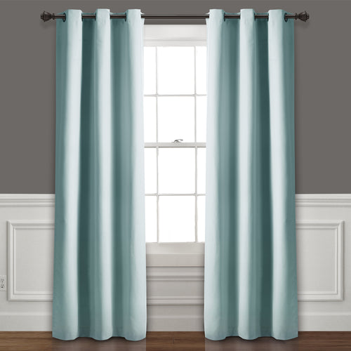 Absolute Blackout Window Curtain Panels Blue 76X84 Set  38X84