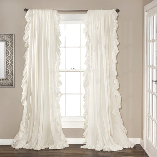 Reyna Window Curtain Panels White 54x120 Set