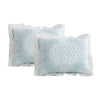 Lucianna Ruffle Edge Cotton Bedspread Blue 3Pc Set King