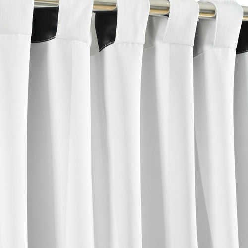 Wilbur Stripe  Room Darkening Window Curtain Panels Black 52x108 Set