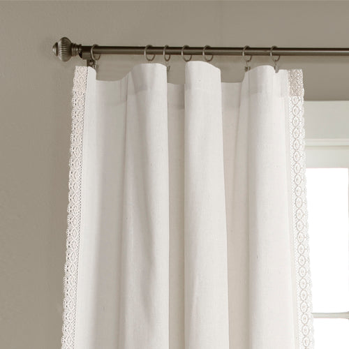 Rosalie Window Curtain Panels White 54x120 Set