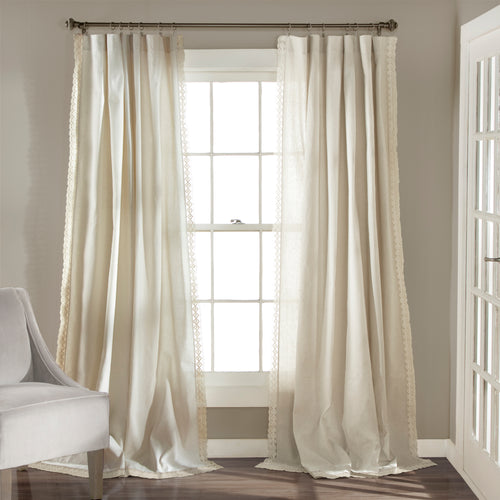 Rosalie Window Curtain Panels Ivory 54x108 Set