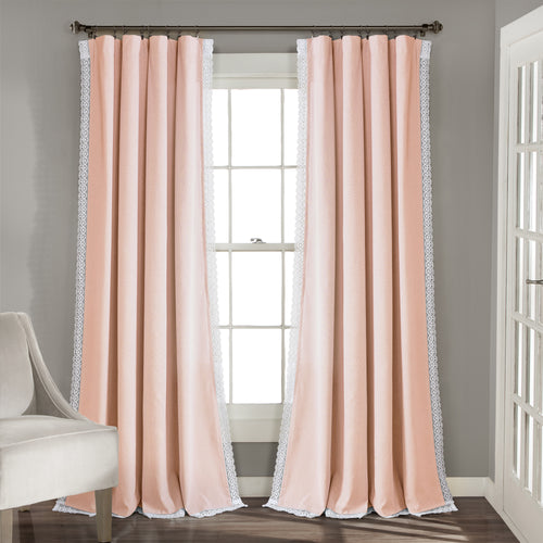 Rosalie Window Curtain Panels Blush 54x108 Set
