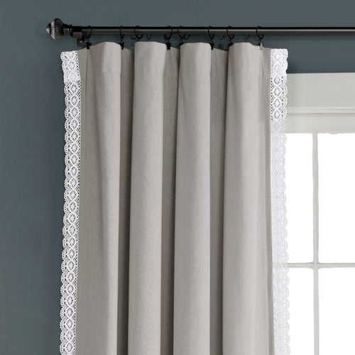 Rosalie Window Curtain Panels Light Gray 54x108 Set