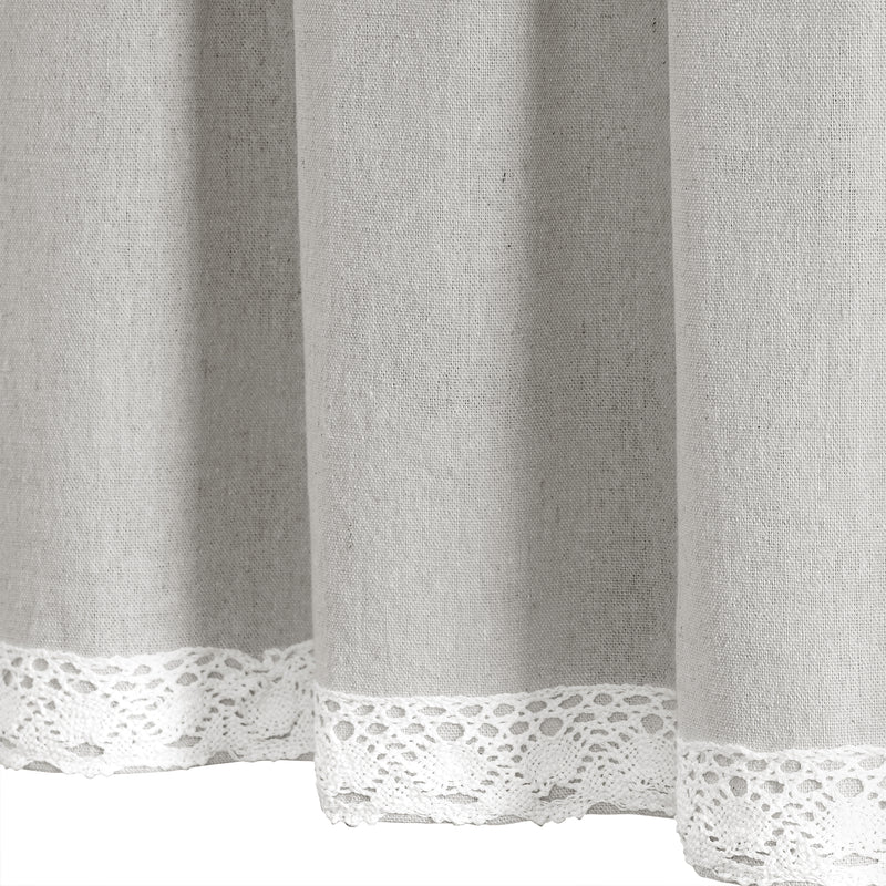 Linen Lace Valance Light Gray Single 52X18+2
