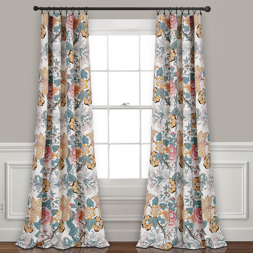 Sydney Room Darkening Window Curtain Panels Blue/Yellow 52X108 Set