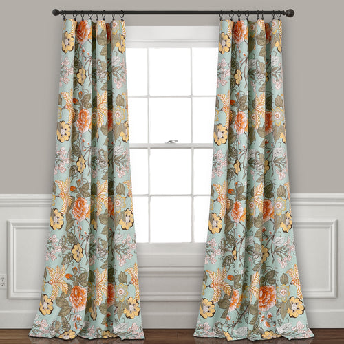 Sydney Room Darkening Window Curtain Panels Blue/Green 52X108 Set