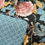 Sydney Throw Black/Blue Single 50X60