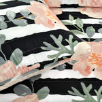 Amara Watercolor Rose Quilt Black/Dusty Rose 5Pc Set King