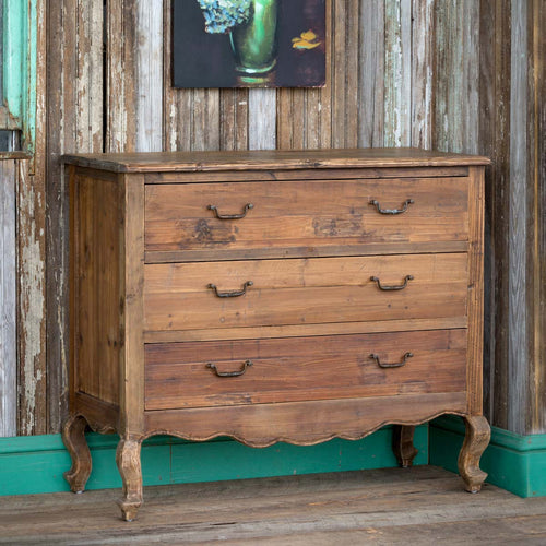 Pine Cabinet With Three Drawers