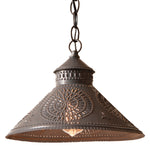 Stockbridge Shade Light with Chisel in Blackened Tin