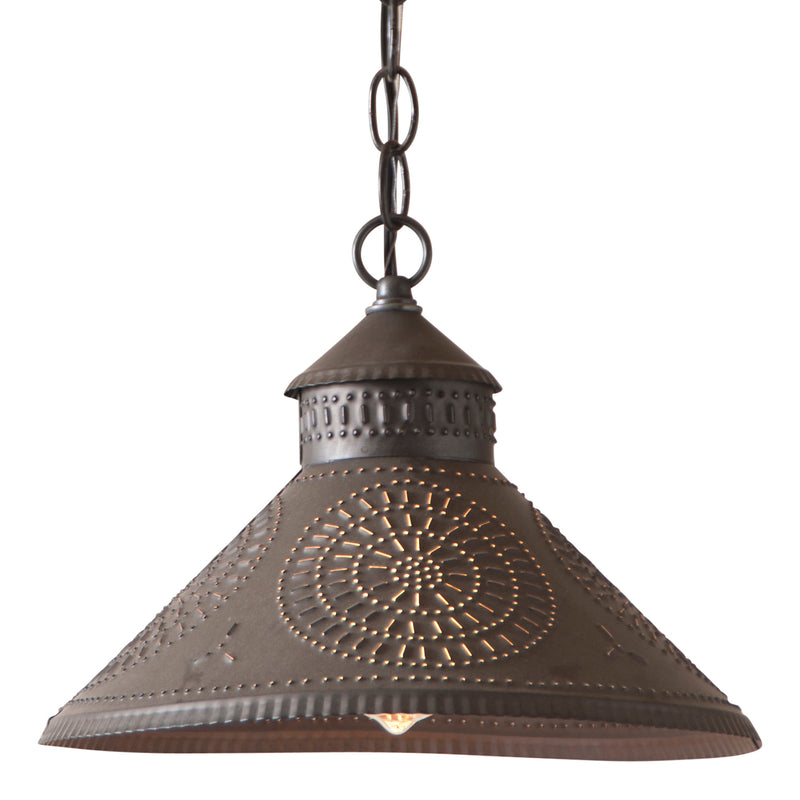 Stockbridge Shade Light with Chisel in Kettle Black