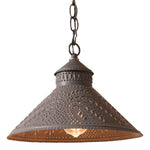Stockbridge Shade Light with Willow in Blackened Tin