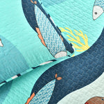 Sea Life Quilt Blue 3Pc Set Full/Queen