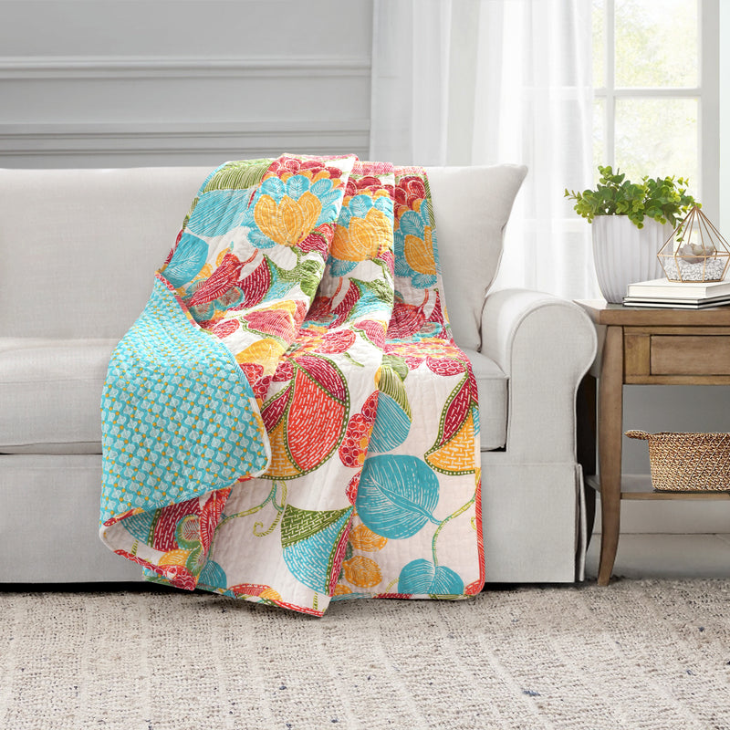 Layla Throw Orange/Blue Single 50x60