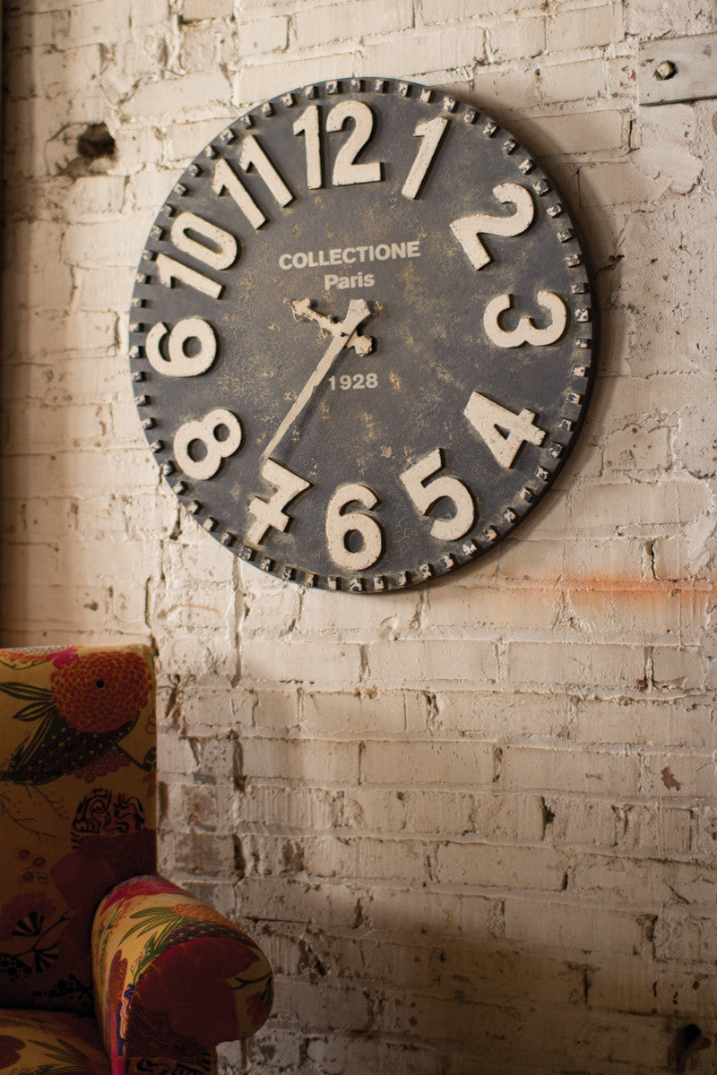 Vintage Style French Factory Clock