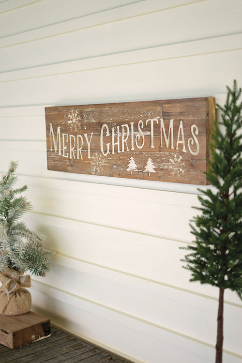 Christmas Sign on Recycled Wood