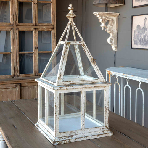 Large, White Distressed Steeple Conservatory