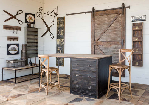 Rustic Sliding Barn Door with Rail Hardware