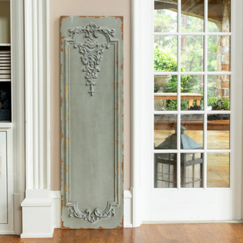 Large, Distressed, French Style, Grey Wall Panel