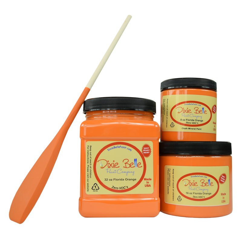 Florida Orange Chalk Mineral Paint Dixie Belle